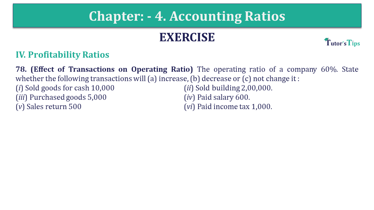 Question 78 Chapter 4 of +2-B