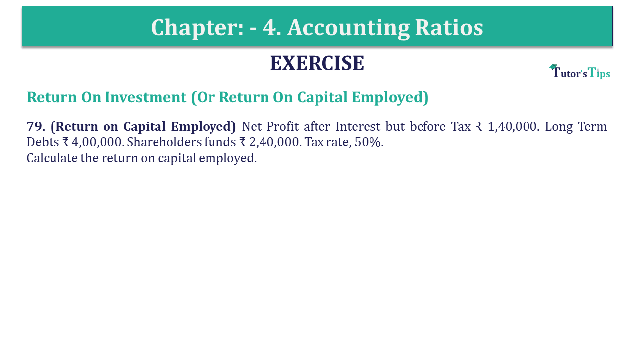 Question 79 Chapter 4 of +2-B