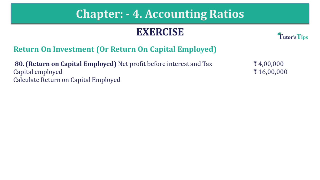 Question 80 Chapter 4 of +2-B