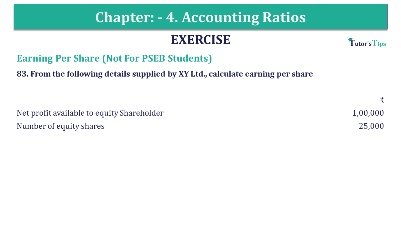 Question 83 Chapter 4 of +2-B