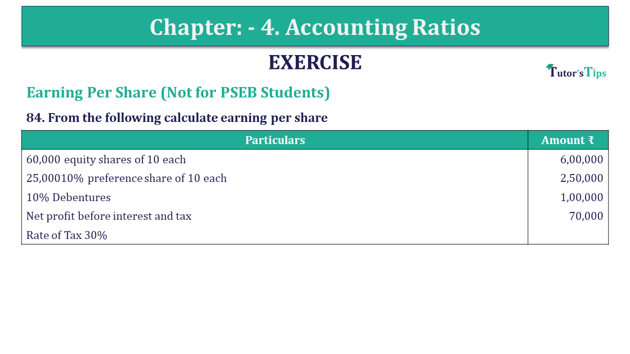 Question 84 Chapter 4 of +2-B