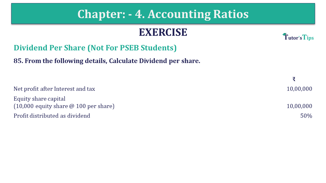 Question 85 Chapter 4 of +2-B