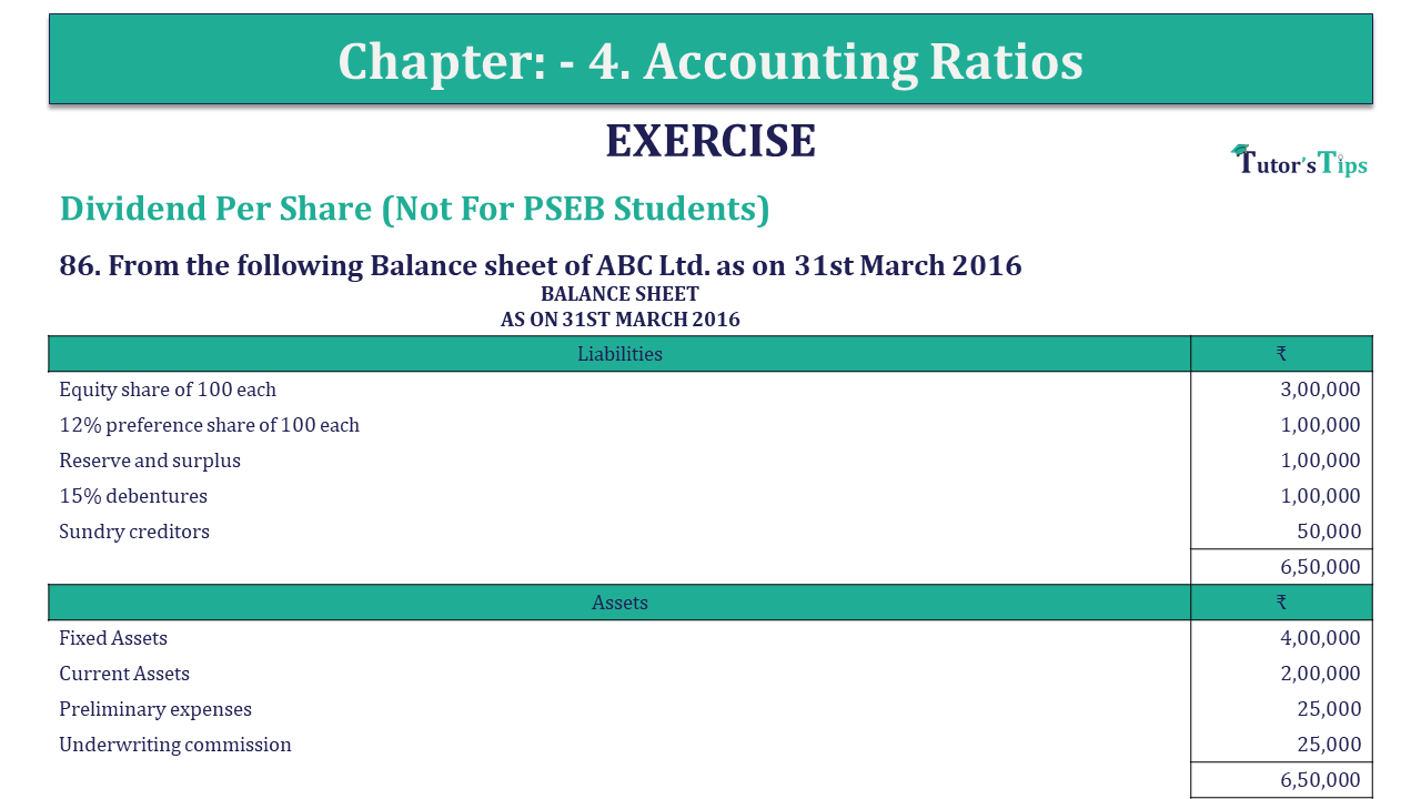 Question 86 Chapter 4 of +2-B