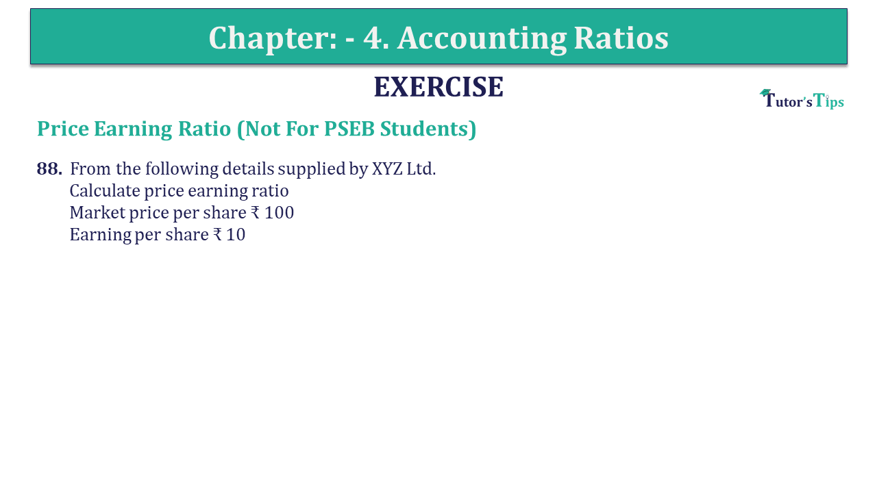 Question 88 Chapter 4 of +2-B