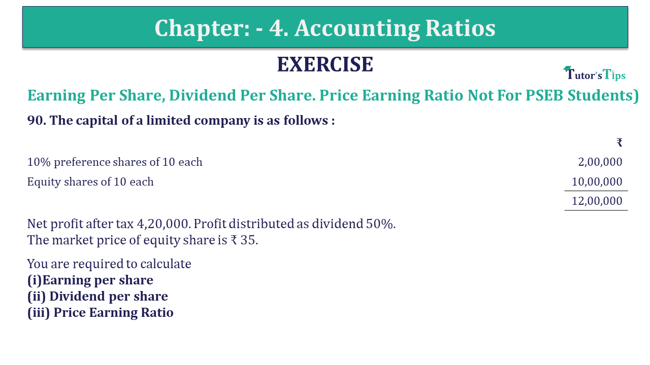 Question 90 Chapter 4 of +2-B