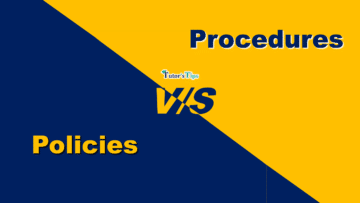 Difference between policies and procedures min 360x203 - Differences - Business Studies