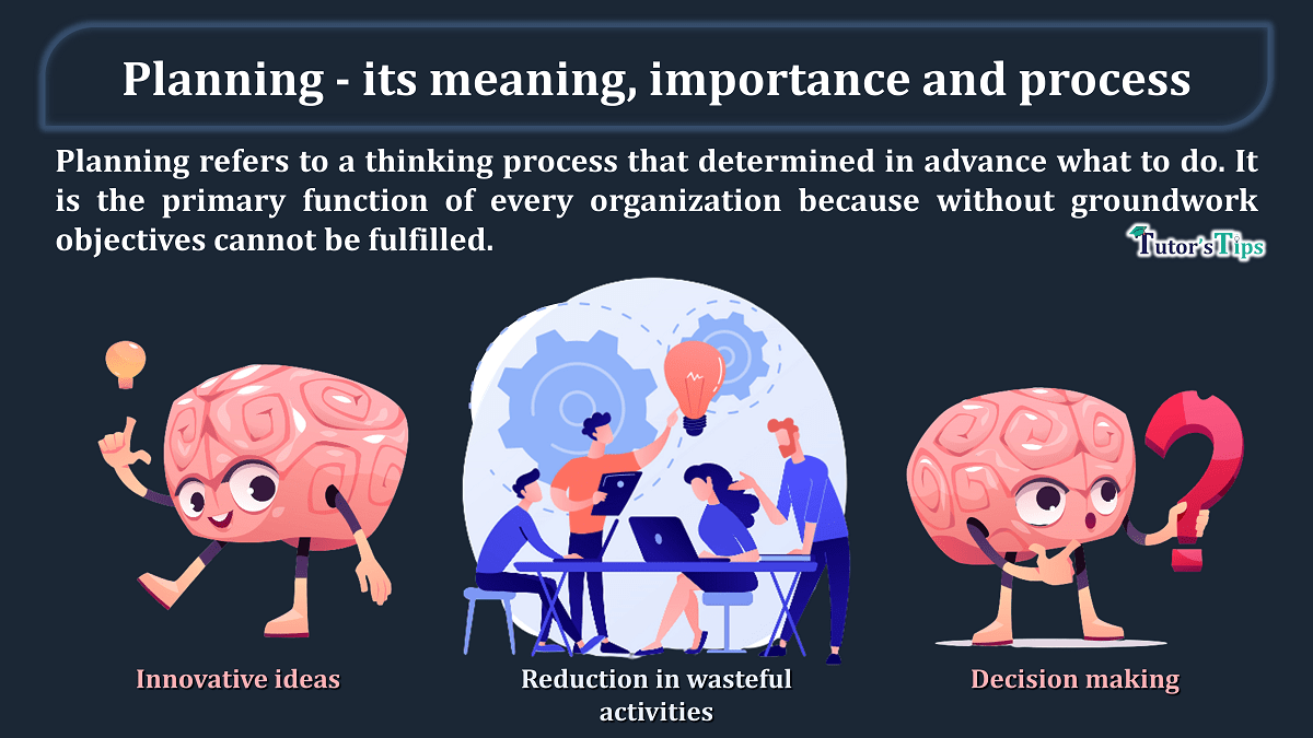 Planning - its meaning, importance and process