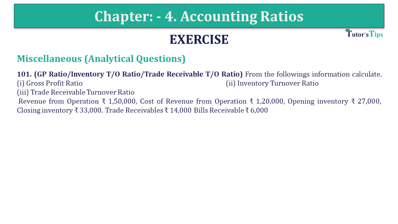 Question 101 Chapter 4 of +2-B