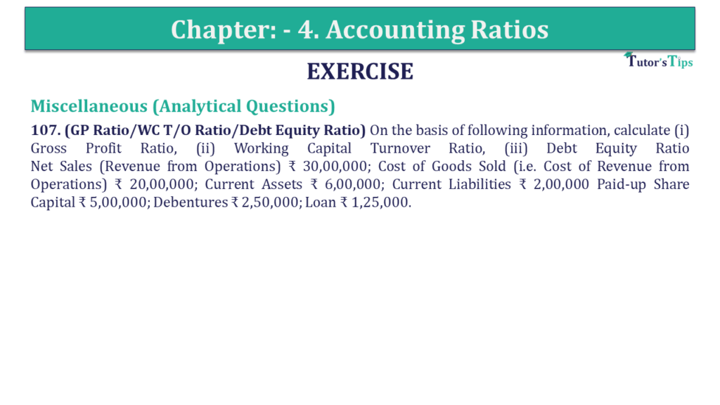 Question 107 Chapter 4 of +2-B