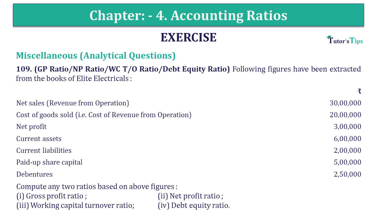 Question 109 Chapter 4 of +2-B