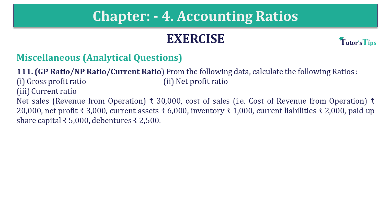 Question 111 Chapter 4 of +2-B