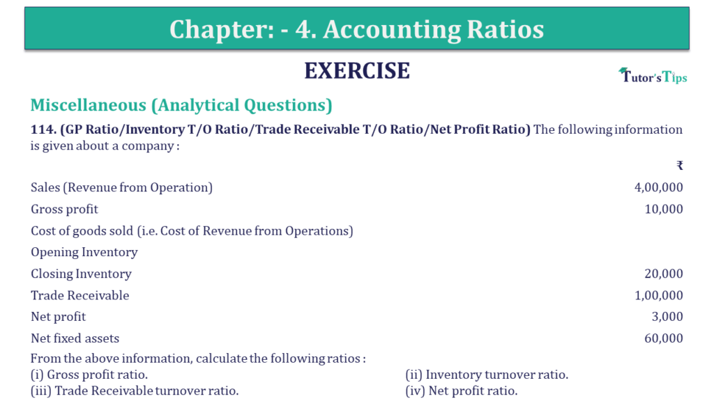 Question 114 Chapter 4 of +2-B