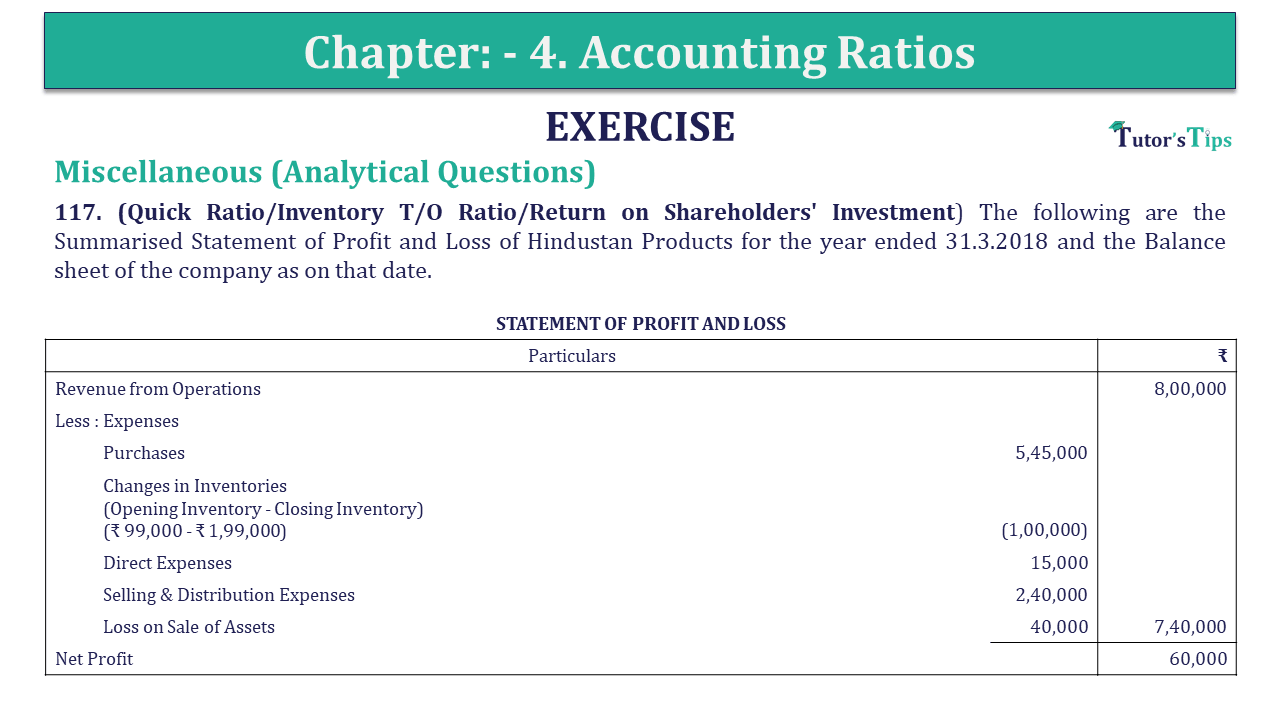 Question 117 Chapter 4 of +2-B