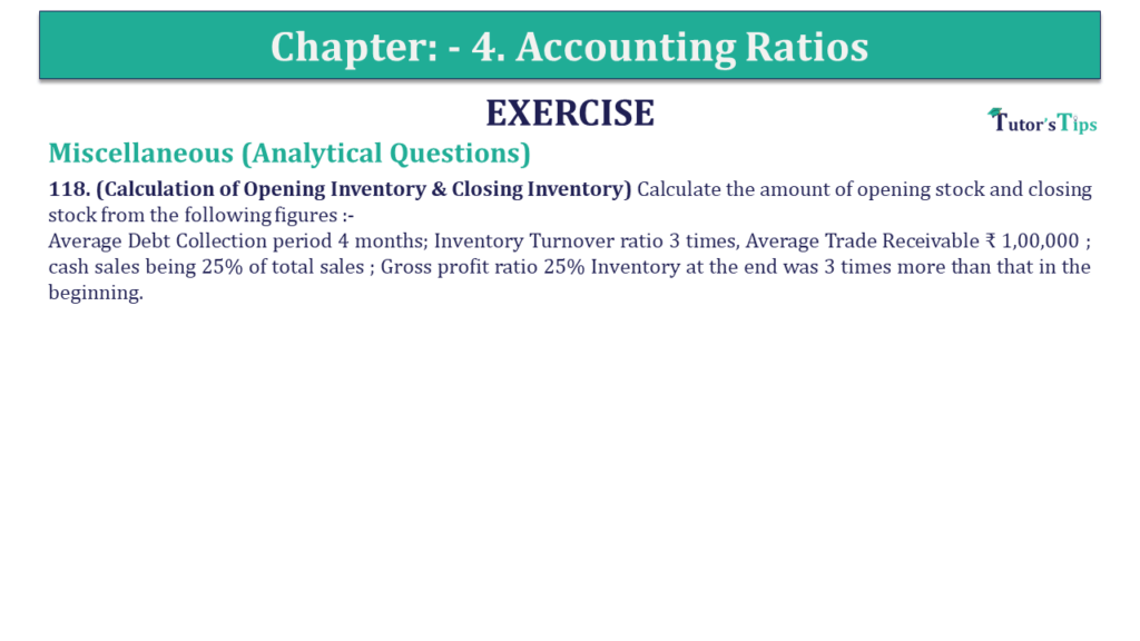 Question 118 Chapter 4 of +2-B