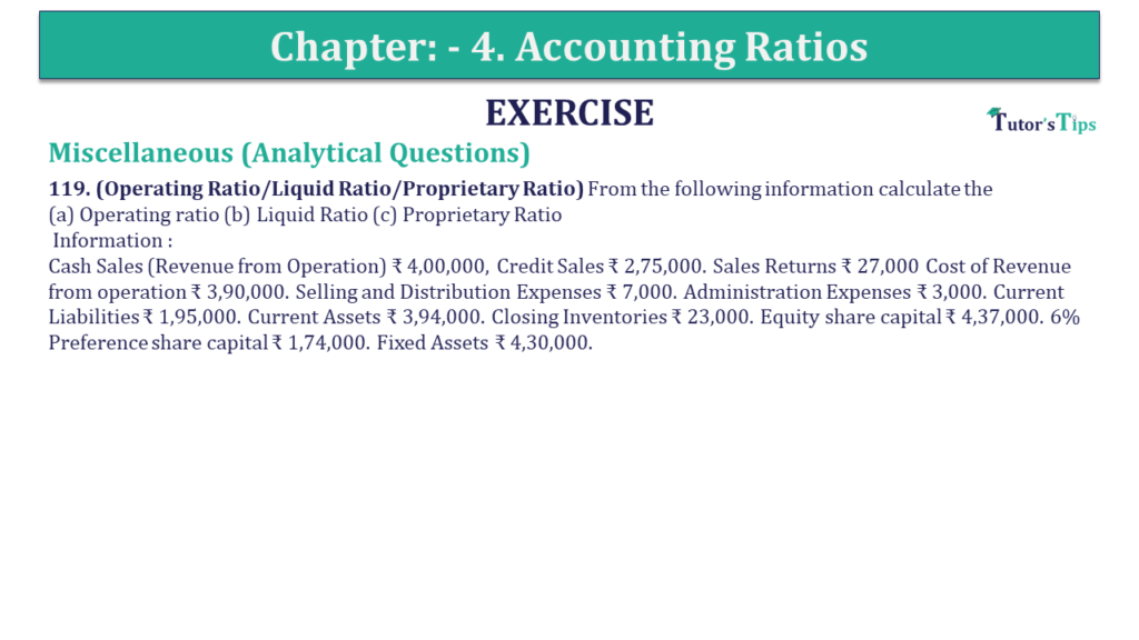 Question 119 Chapter 4 of +2-B
