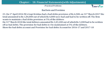 Q 23 CH 18 USHA 1 Book 2020 Solution min 360x203 - Chapter No. 18 - Financial Statements - (With Adjustments) - USHA Publication Class +1 - Solution