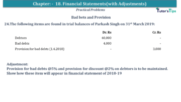 Q 24 CH 18 USHA 1 Book 2020 Solution min 360x203 - Chapter No. 18 - Financial Statements - (With Adjustments) - USHA Publication Class +1 - Solution
