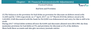 Q 25 CH 18 USHA 1 Book 2020 Solution min 360x203 - Chapter No. 18 - Financial Statements - (With Adjustments) - USHA Publication Class +1 - Solution