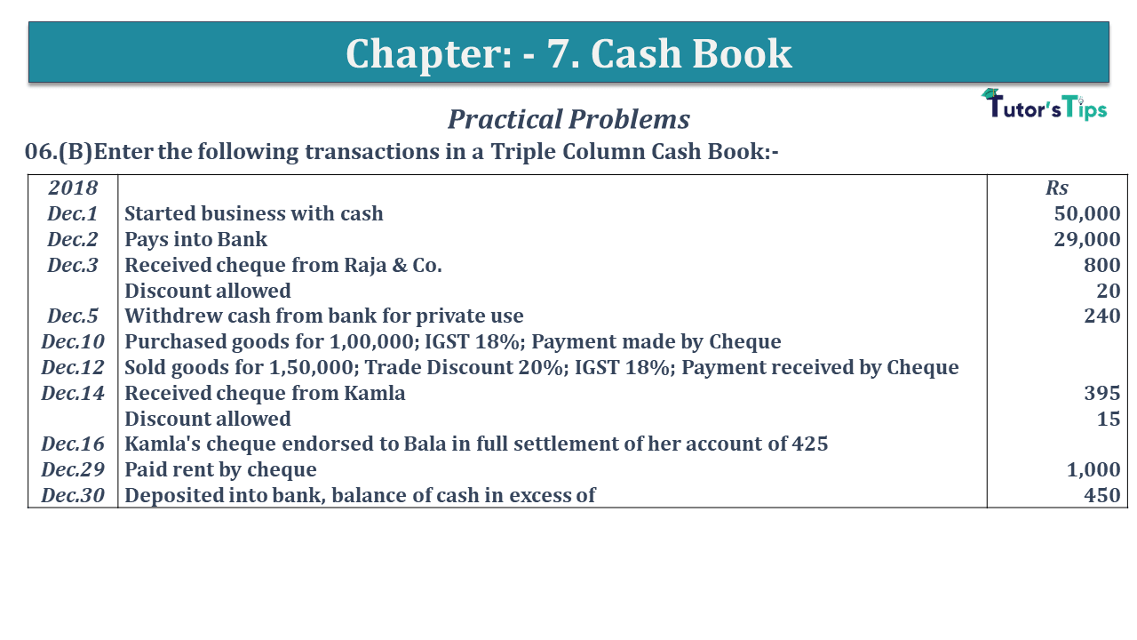 Question No 06 B Chapter No 7