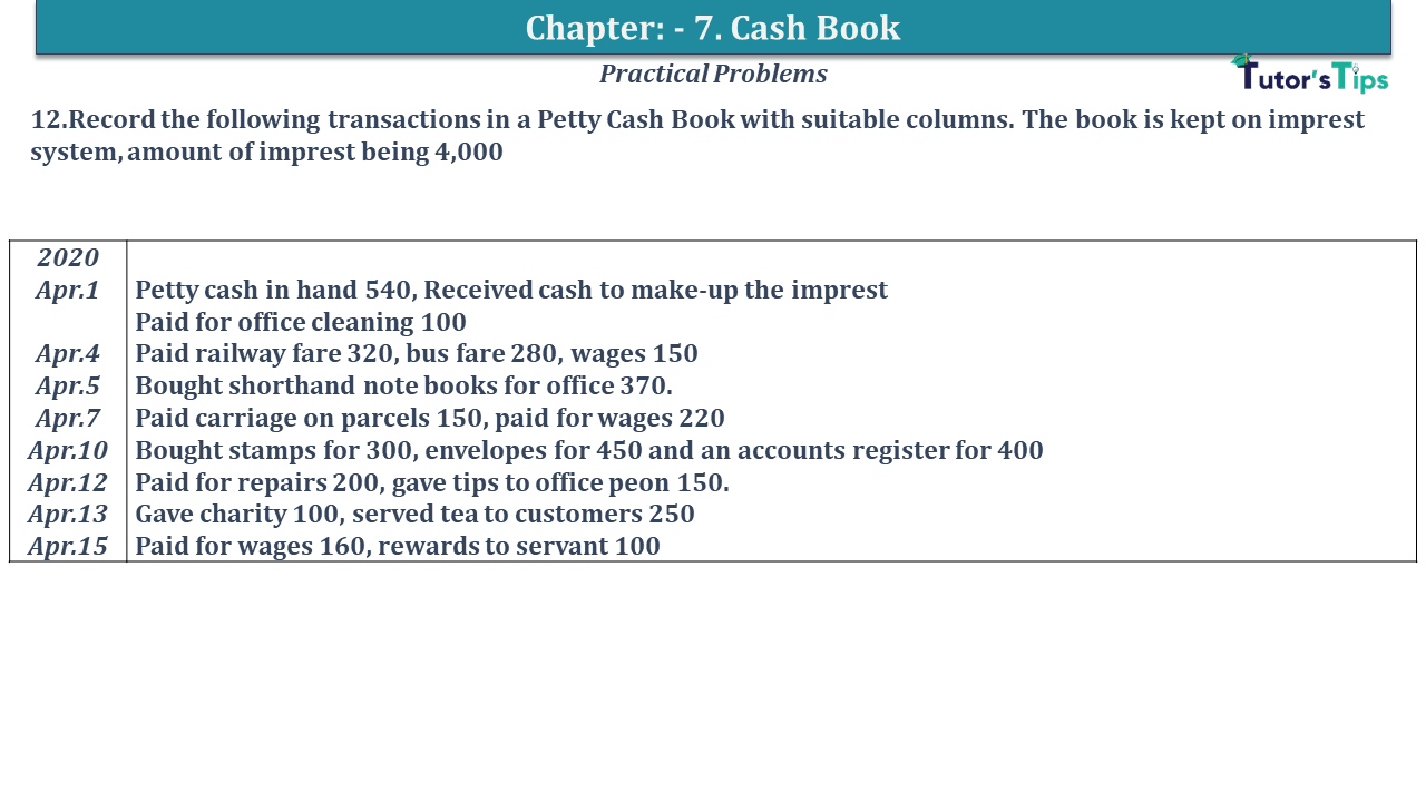 Question No 12 Chapter No 7