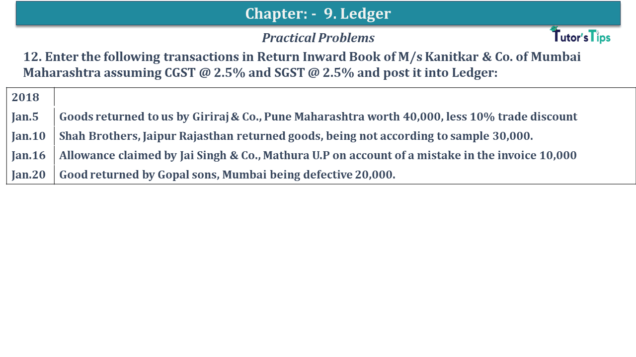 Question No 12 Chapter No 9