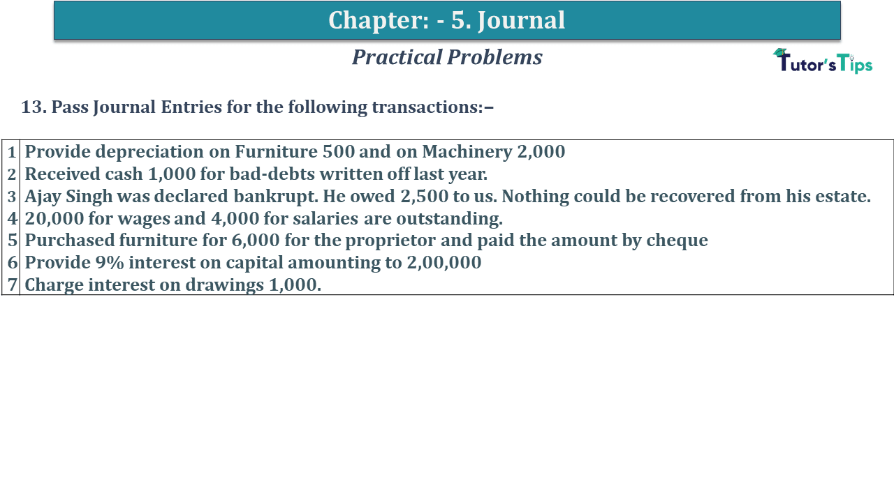 Question No 13 Chapter No 5