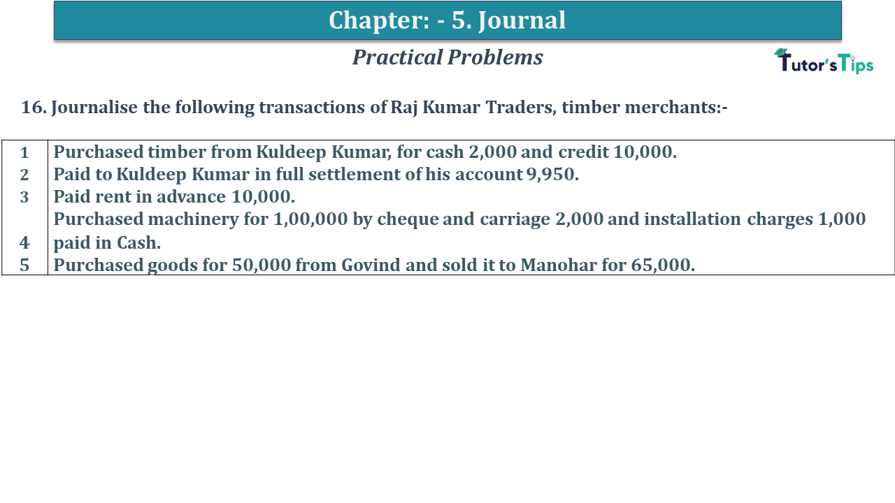 Question No 16 Chapter No 5