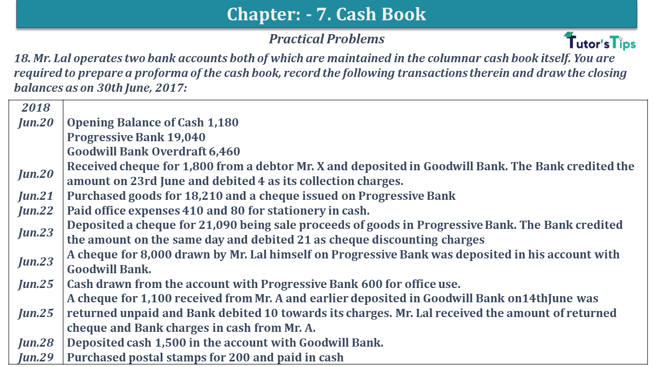Question No 18 Chapter No 7