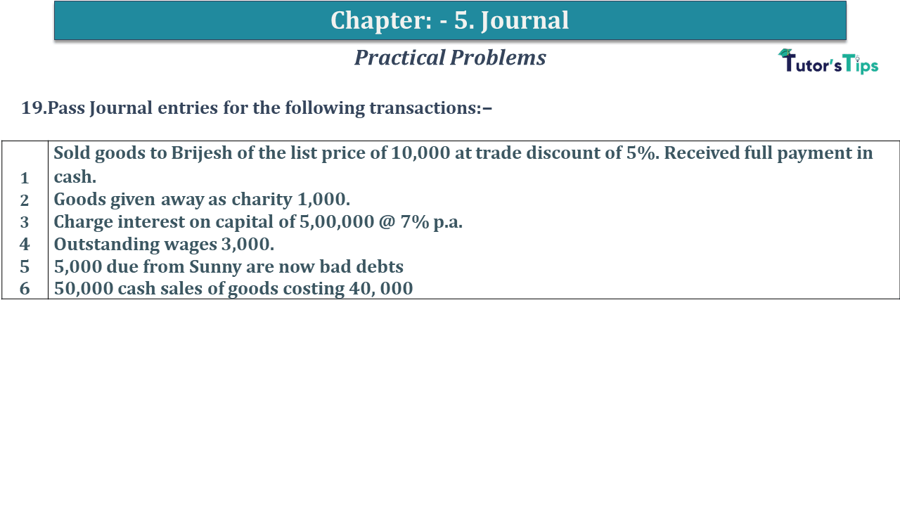 Question No 19 Chapter No 5