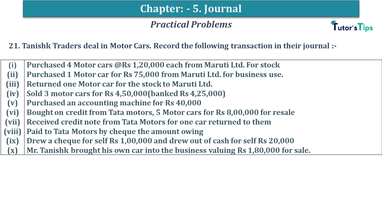Question No 21 Chapter No 5