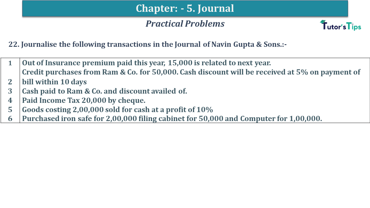 Question No 22 Chapter No 5