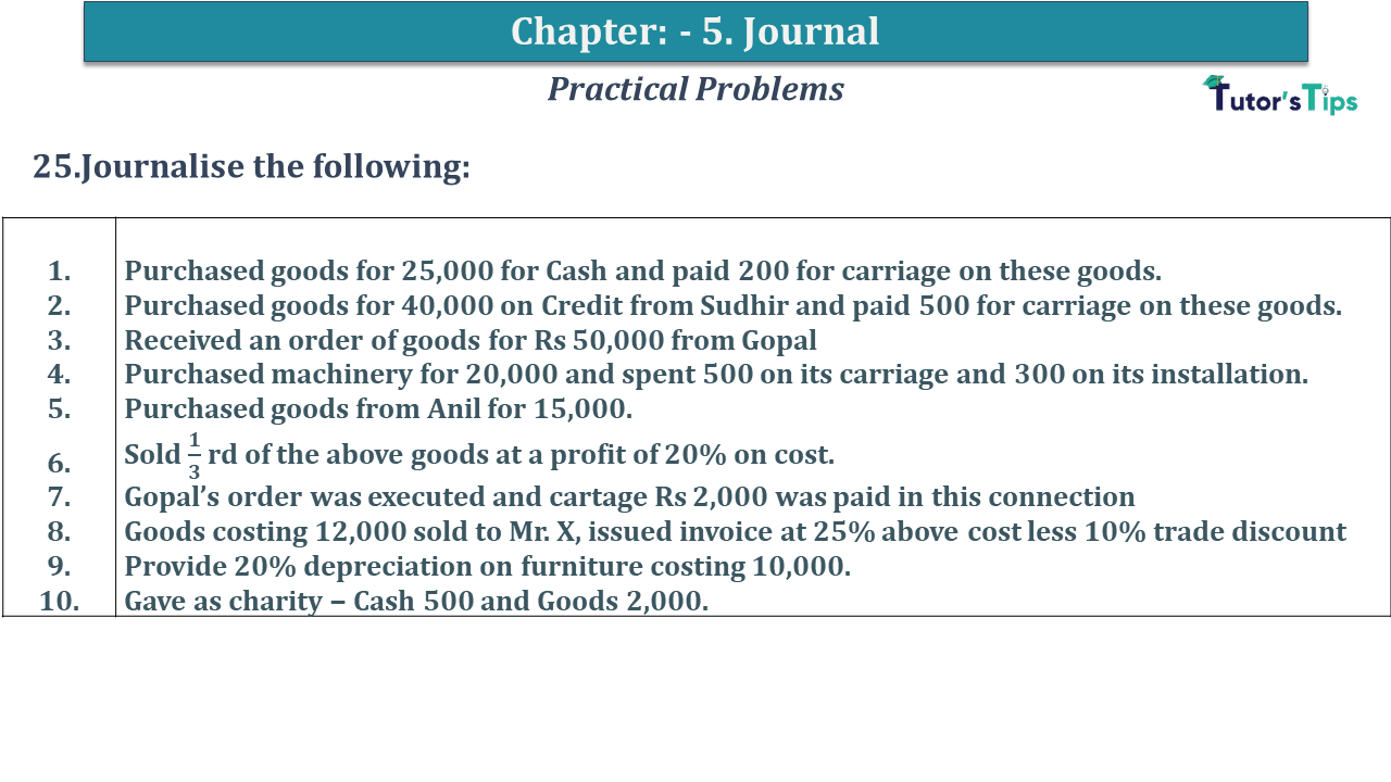Question No 25 Chapter No 5
