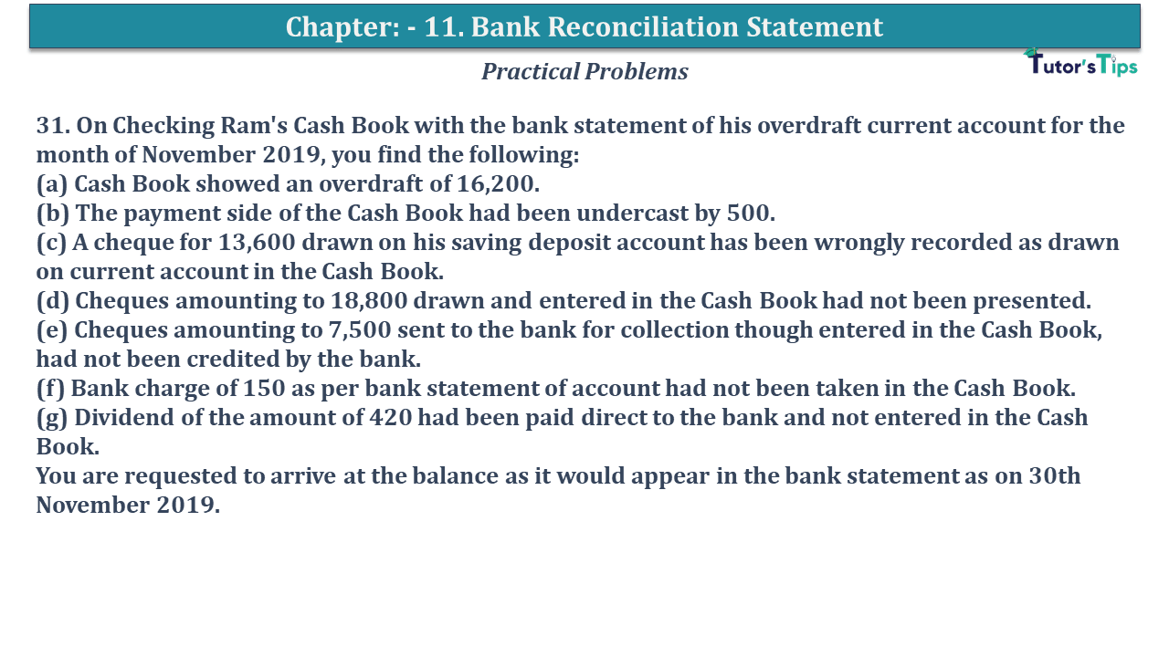 Question No 31 Chapter No 11