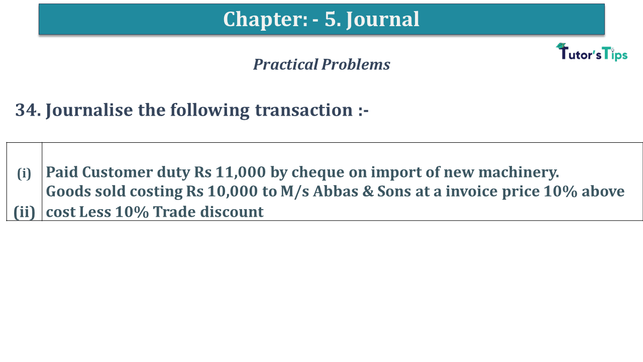 Question No 34 Chapter No 5