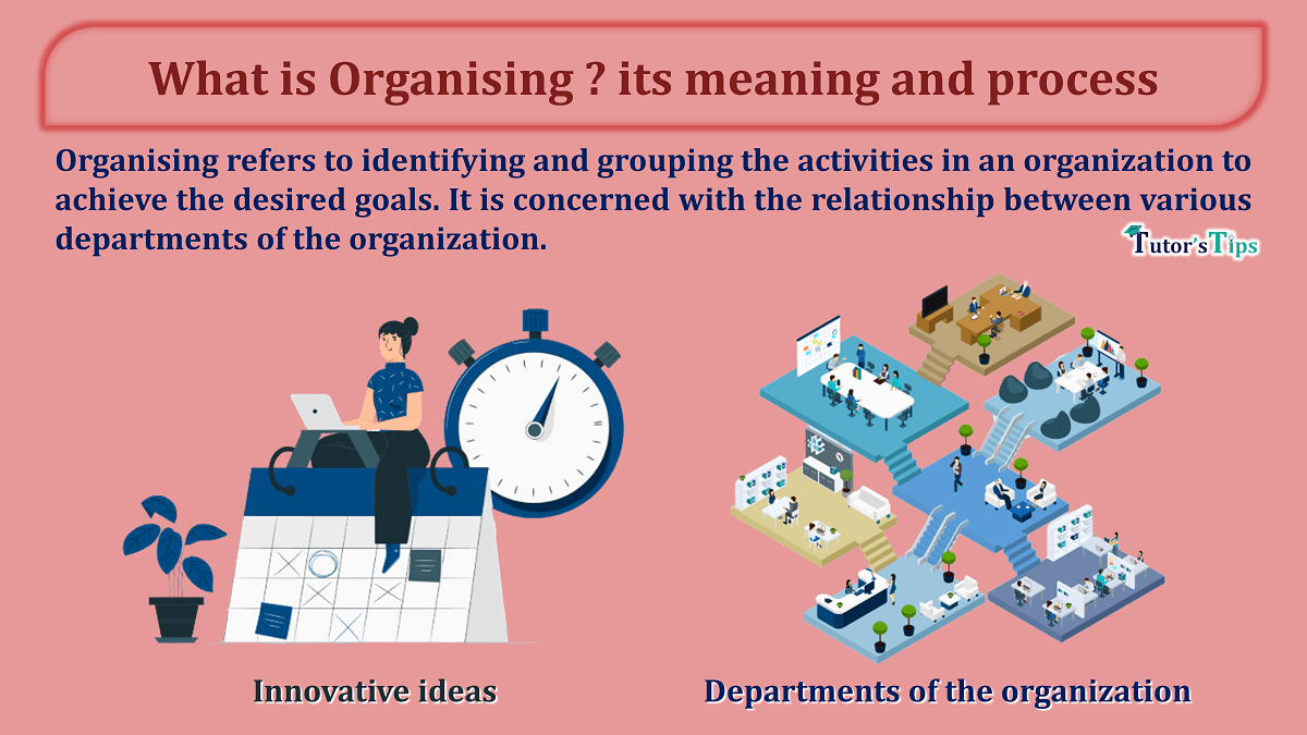 What is Organising its meaning and process