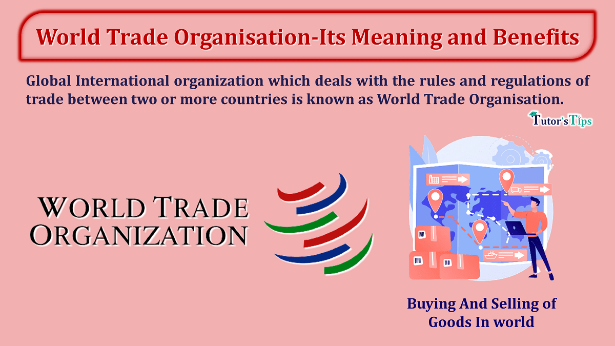 World Trade Organisation-Its Meaning and Benefits