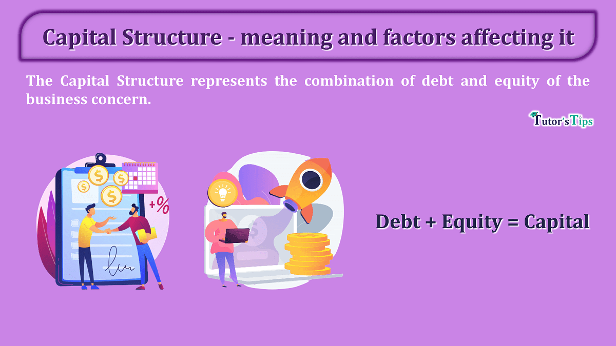 Capital Structure meaning and factors affecting it min - Learn Accounting, GST, Economics and Microsoft Excel