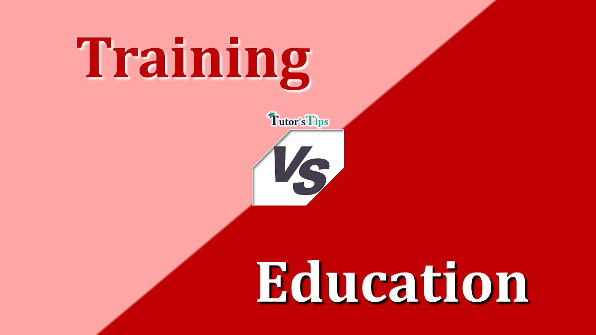 Difference Between Training and Education