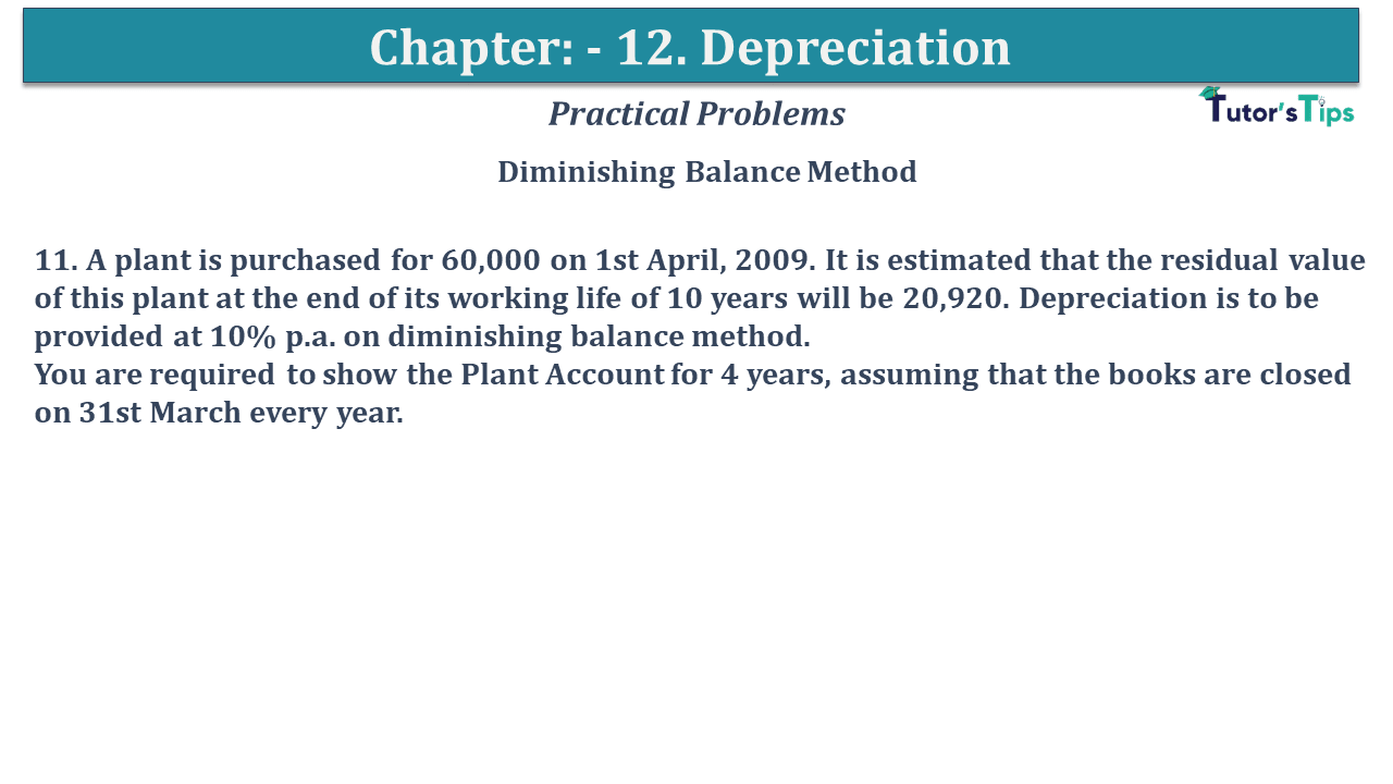 Question No 11 Chapter No 12