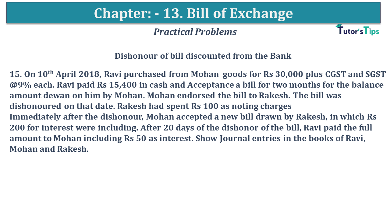 Question No 15 Chapter No 13