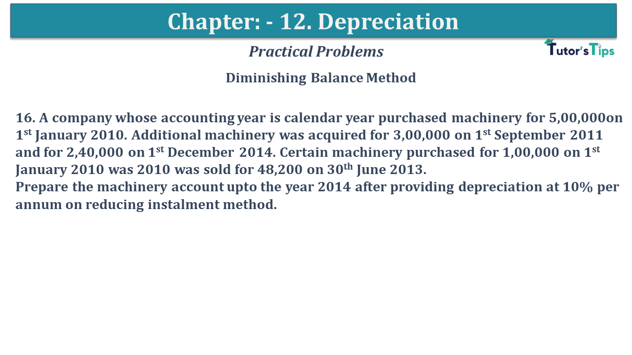 Question No 16 Chapter No 12