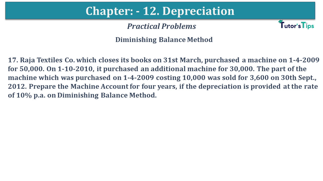 Question No 17 Chapter No 12