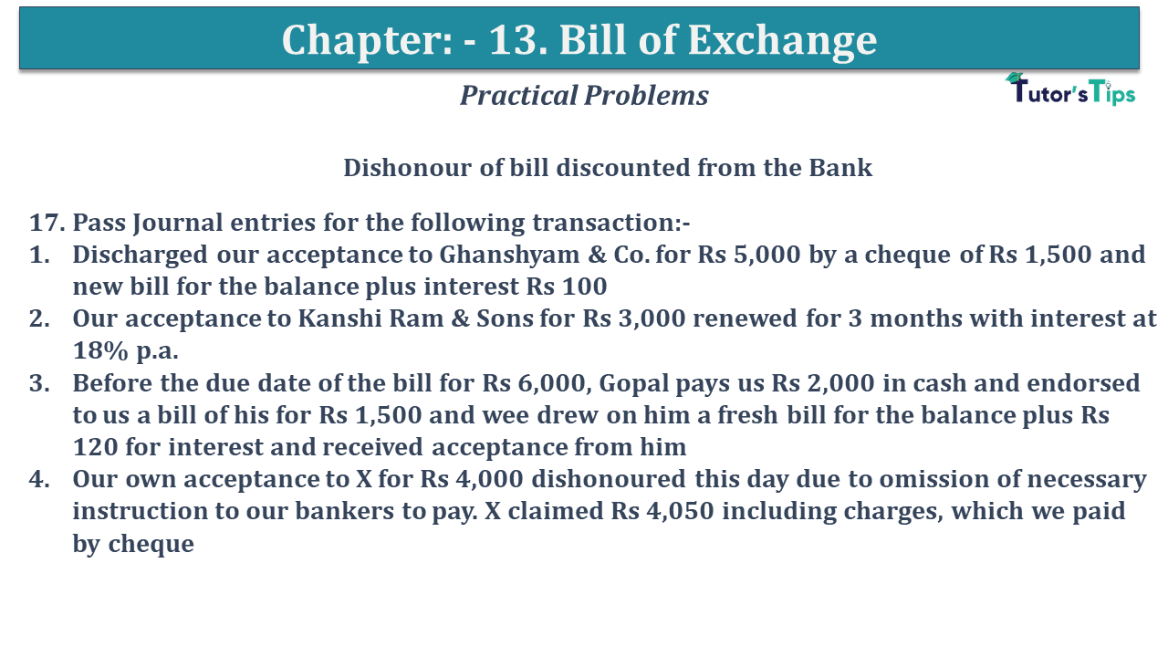 Question No 17 Chapter No 13