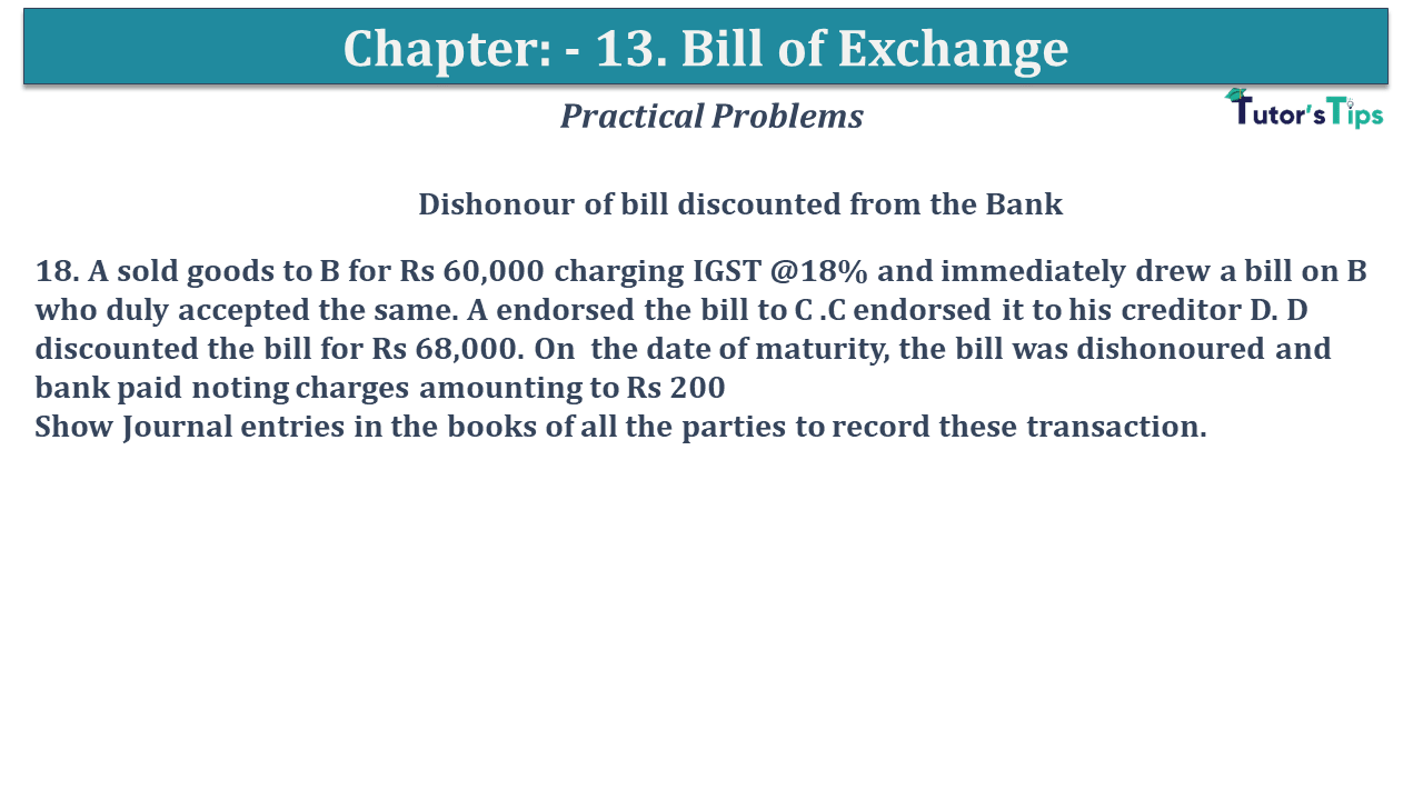 Question No 18 Chapter No 13