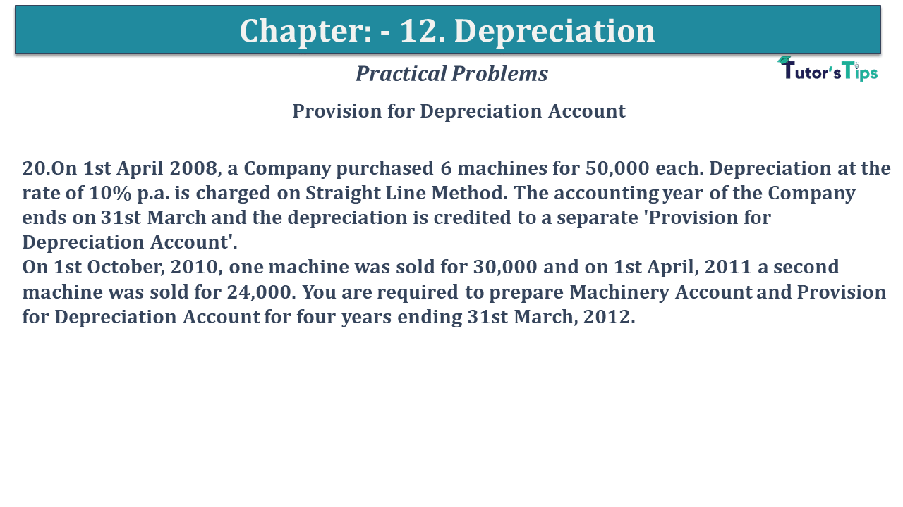 Question No 20 Chapter No 12