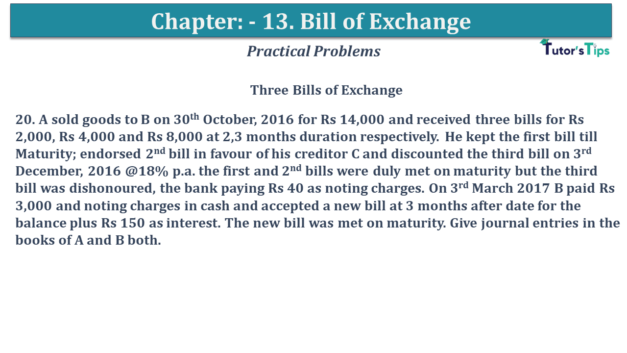 Question No 20 Chapter No 13