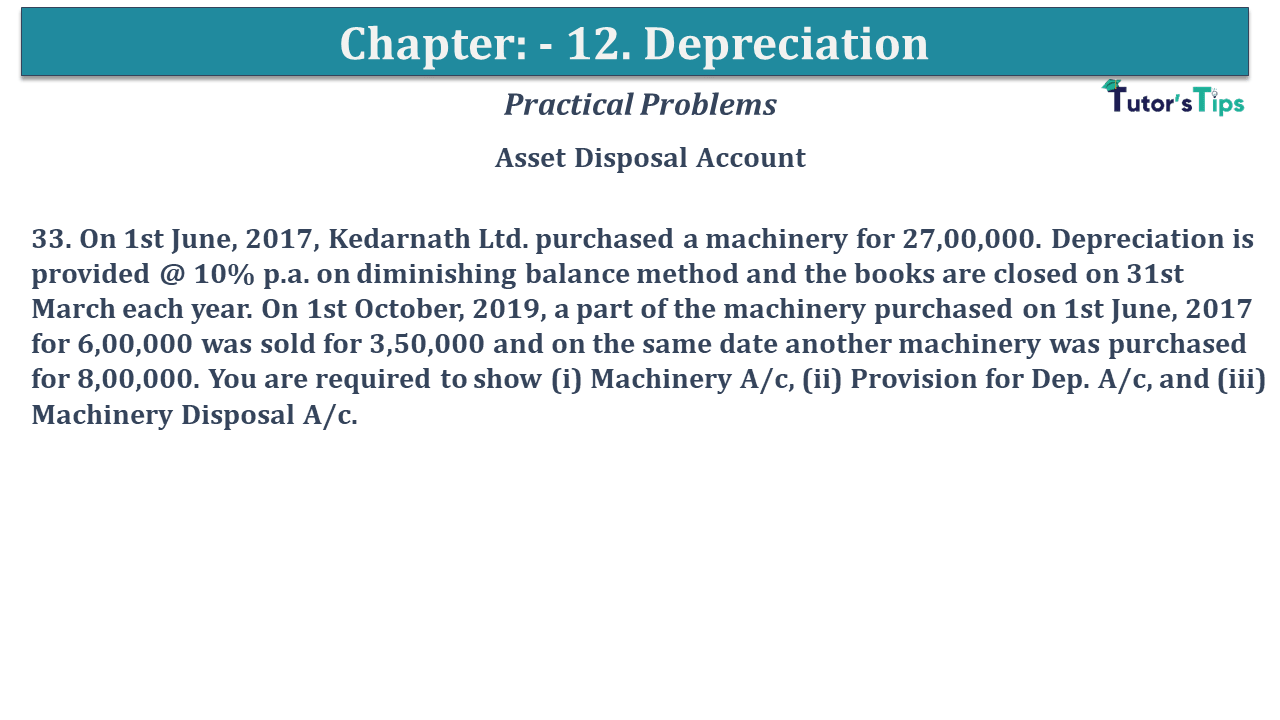 Question No 33 Chapter No 12