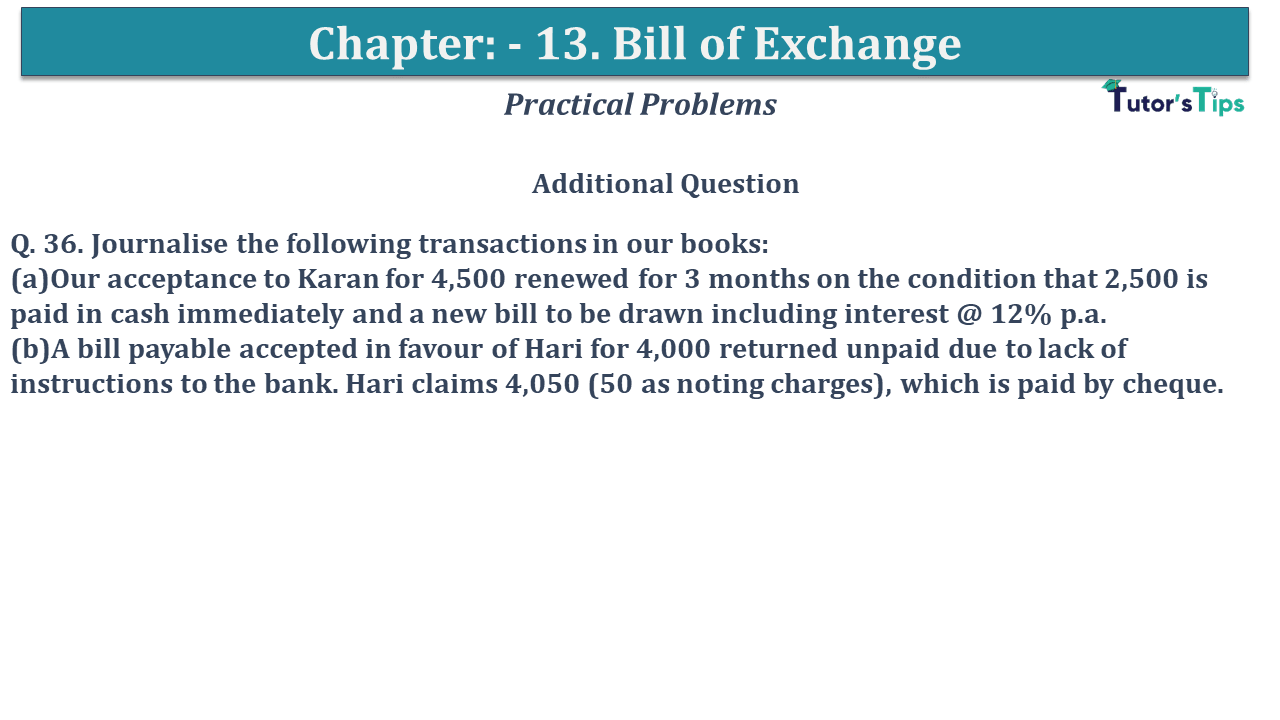 Question No 36 Chapter No 13