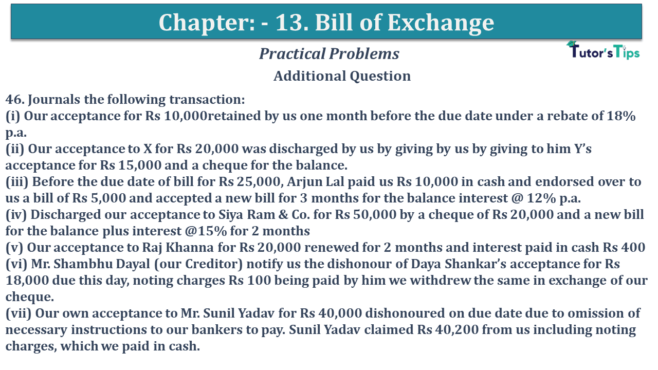 Question No 46 Chapter No 13