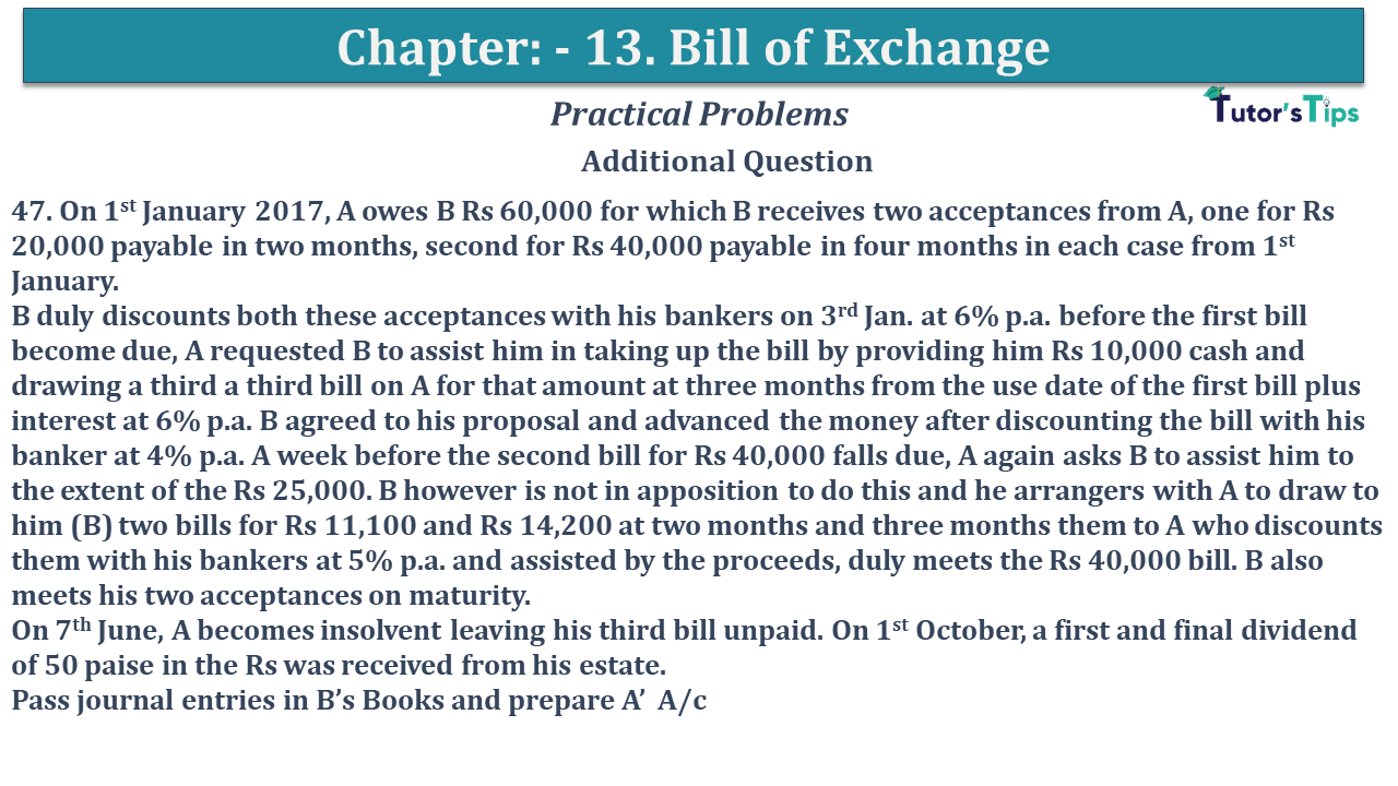 Question No 47 Chapter No 13